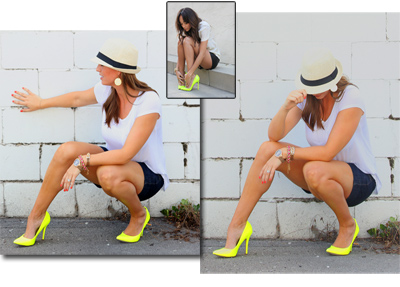 Look for Less: Neon Yellow Pump